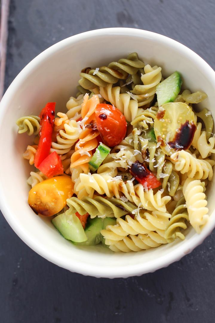 pasta salad with balsamic dressing