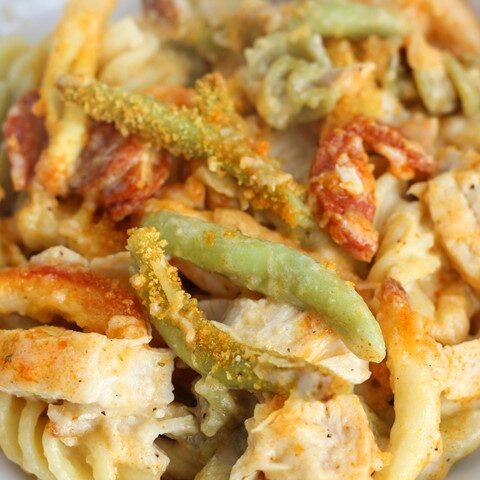 chicken-chorizo-pasta-bake
