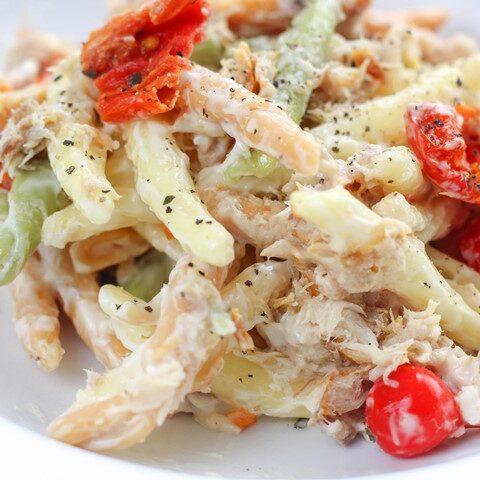 mackerel pasta salad