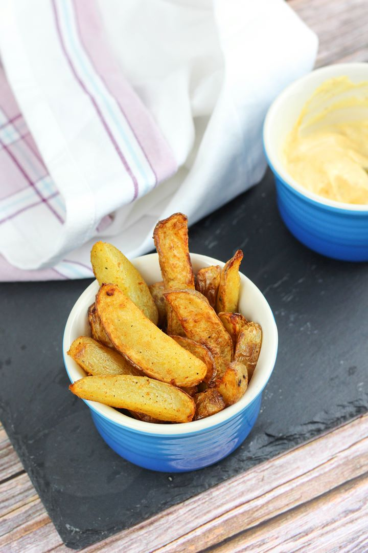 chunky chips with dip