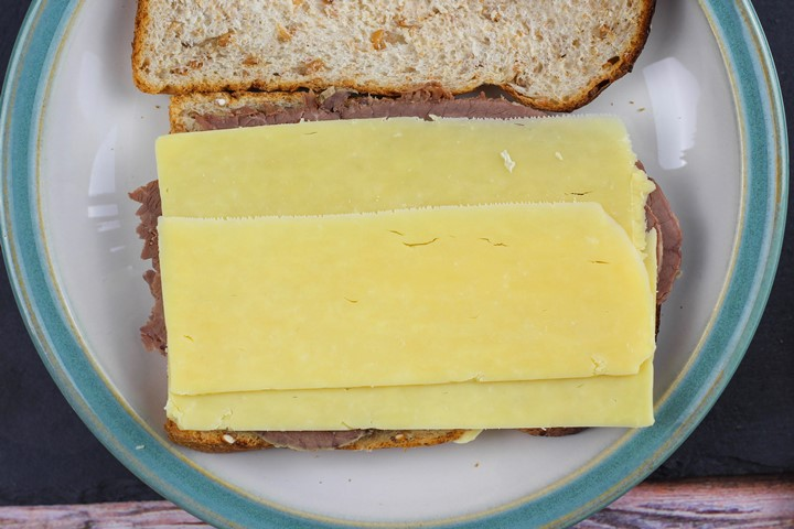 beef and cheese sandwich