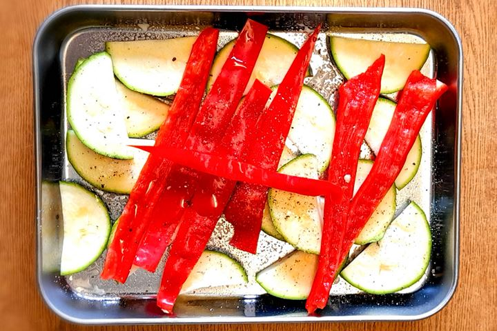 courgette and peppers