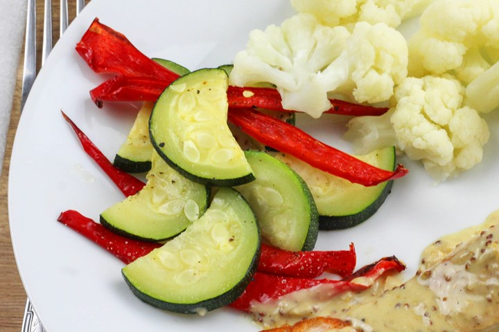 baked zucchini and pepper