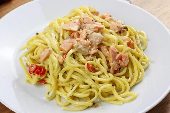 fresh salmon with pasta recipes