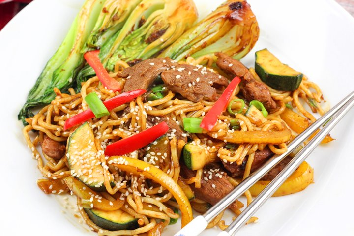 duck stir fry with noodles