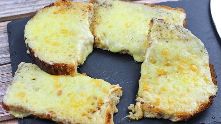 cheese on toast with marmite